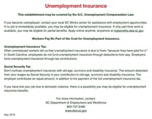 South Carolina Unemployment Insurance Peel 'N Post