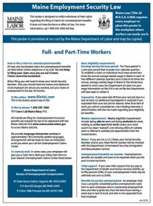 Maine Employment Security Law Posting